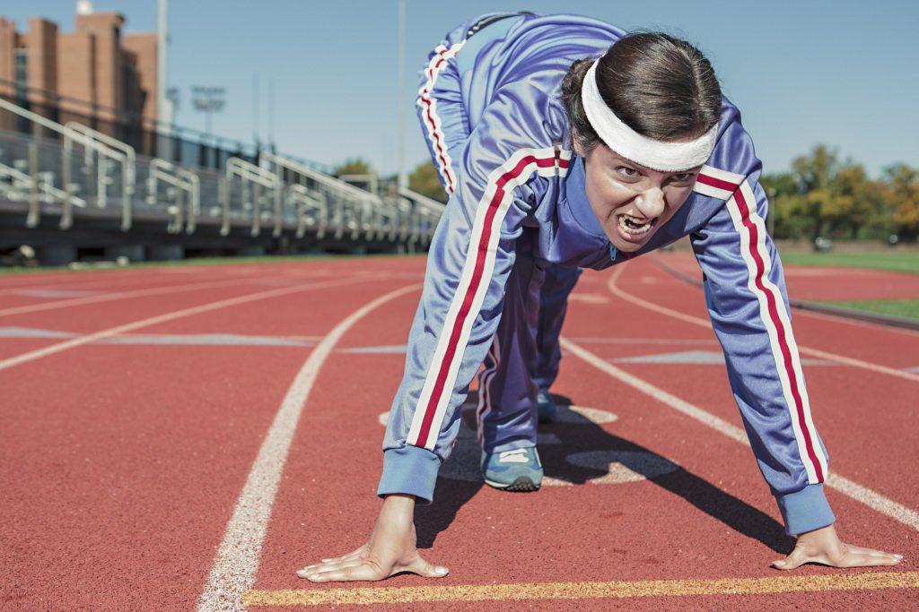 femme au sport